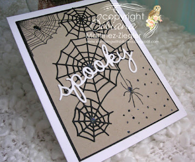 quick and easy halloween card in white and kraft