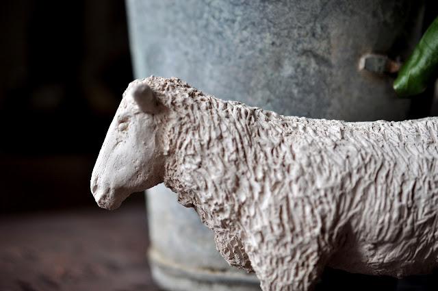 moutons en platre