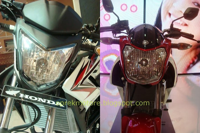 Komparasi Headlamp CB150R dengan New V-ixion