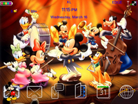 MickeyAndFriendsblackberrytheme Mickey and Friends for Blackberry Curve 8520 theme