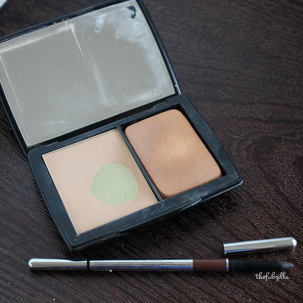 guerlain lingerie de peau powder foundation review, marc jacobs beauty brow wow review