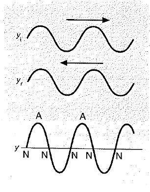 onda estacionaria producida por dos ondas de igual amplitud