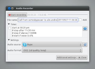 Sound Recorder Using Audio Recorder for Linux