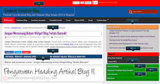 Pengaturan Heading Artikel Blog Panduan Template Blog