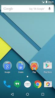 Tampilan Android 5.0-5.1.1