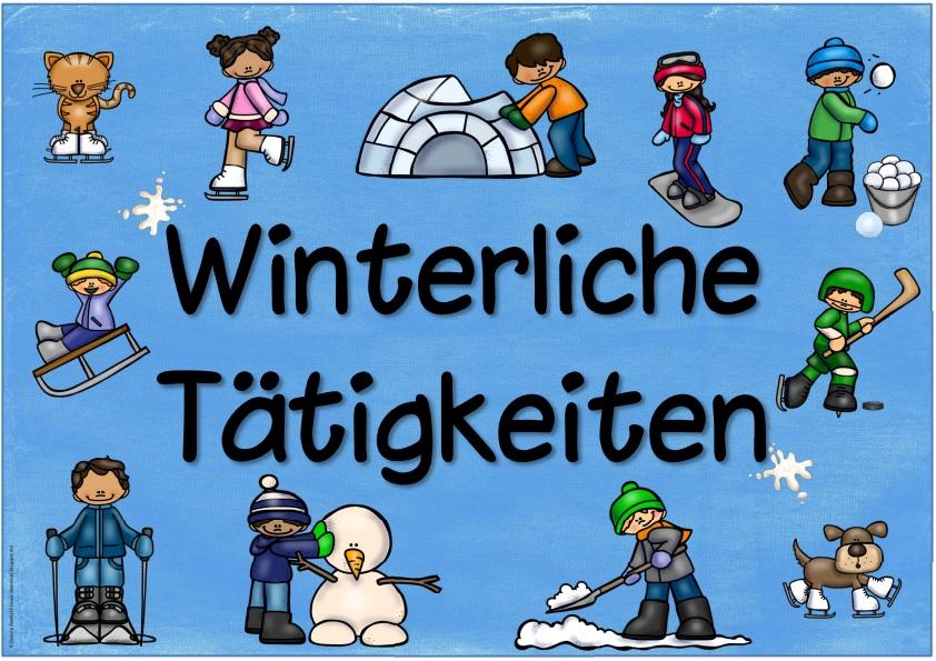 Ideenreise plakat winterliche t tigkeiten - Winterliche bilder kostenlos ...