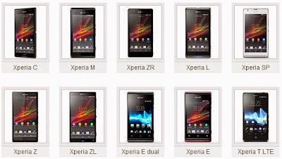 Sony Xperia Terbaru 2013