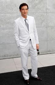 vit kostym herr bröllop