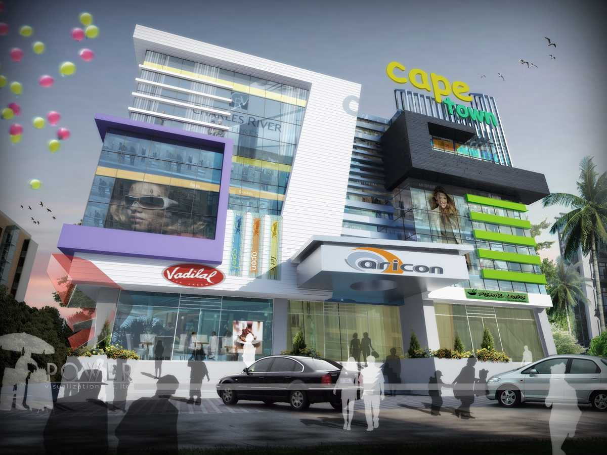 Malls multiplexes 3d design for Exterior 3d design