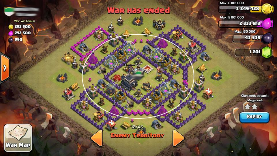 21 clash of clans central war castle base designs th7 th8 th9 th10