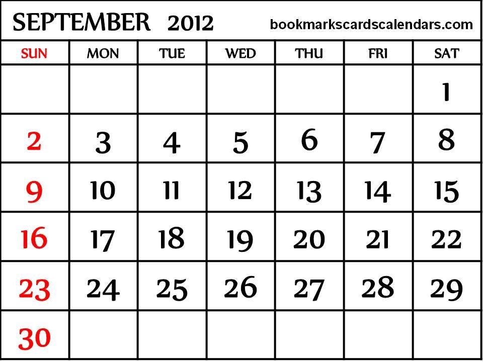 December 2012 Calendar Printable Free