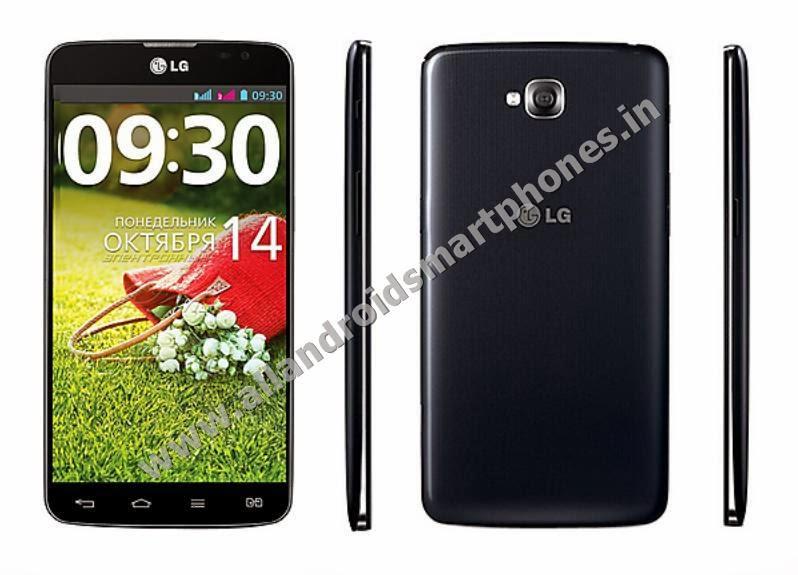 LG Pro Lite Dual D686 Android 3G Phablet Dual Sim Black Front Back Side Images Photos Review