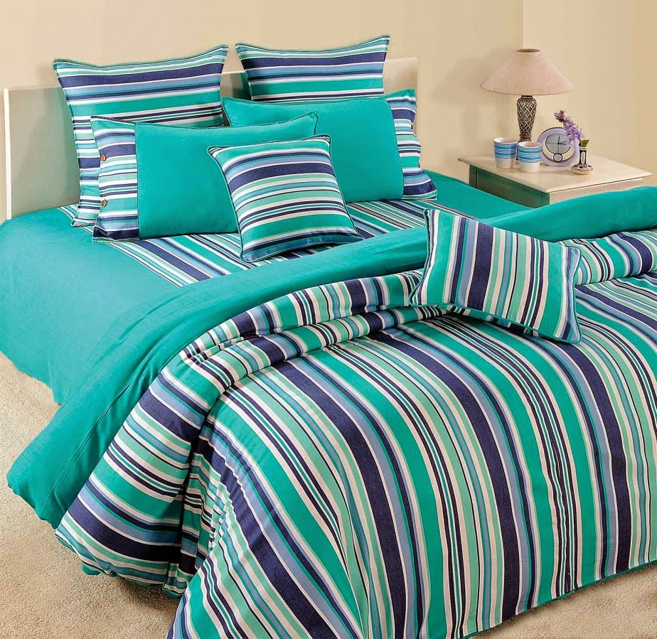 Modern bed sheets pattern - Beautiful Enticing Floral Pattern Turquoise Bed Sheet In Casual White Bedroom With Traditional Rattan Chair And Basket Fancy Bed Sheet