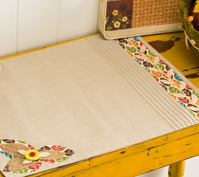 Cathie Filian Diy Fabric Appliqu Thanksgiving Placemat