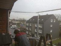 Katzennetz oben geschlossen Balkon