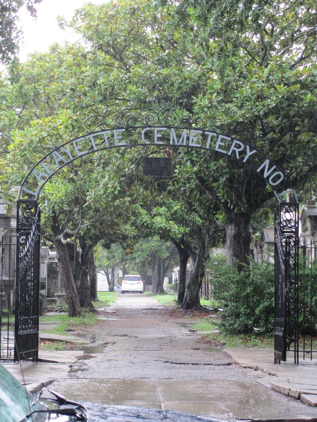 Gate of LaFeyette Cemetery, New Orleans, LA