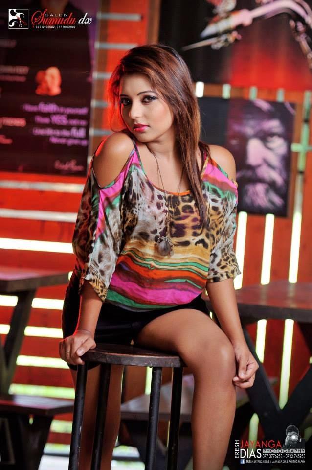 Shani Shenaya black shorts