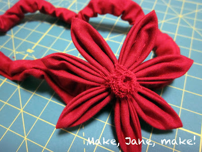 DIY, fabric flower