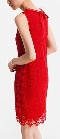 vestido rojo para eventos Massimo Dutti verano 2014