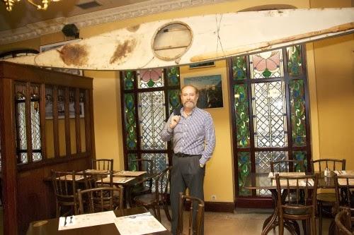 Entrevista en THE GEOGRAPHIC CLUB de Madrid para el periódico LA GACETA de Intereconomía