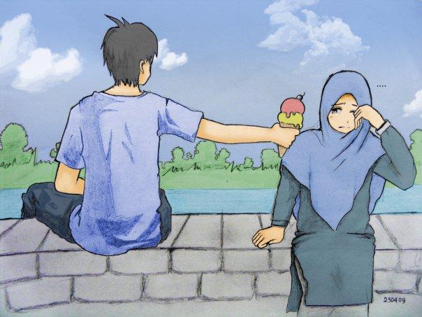 Kartun Islami Couple Ikhwan Ahwat Kartun Dakwah Islam