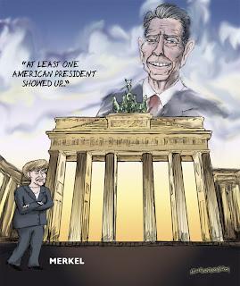 Berlin Wall Artwork and Graffiti and Political Cartoon Today