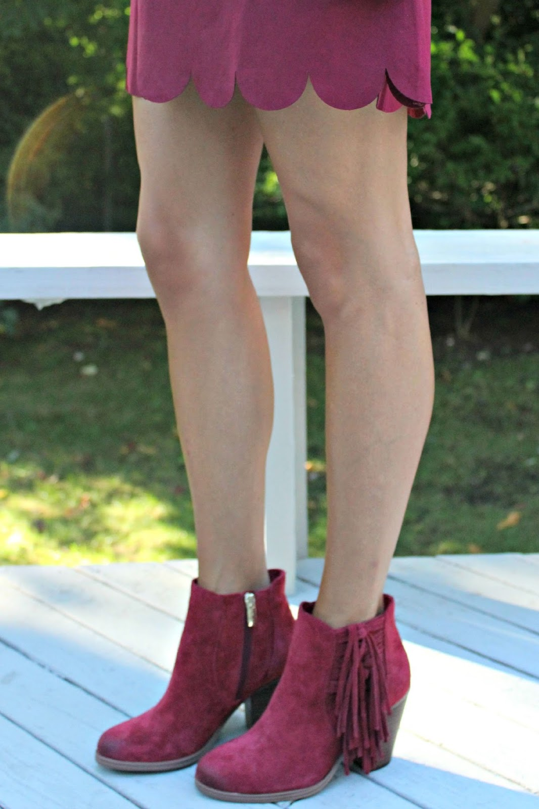 vince camuto fringe booties