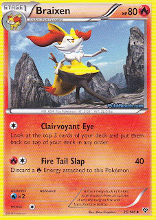 Braixen Pokemon X and Y Card