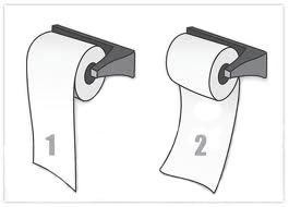 dibujo rollo de papel higiénico