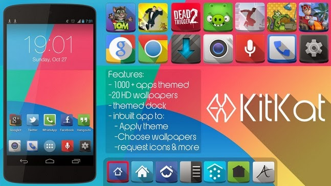KitKat(Apex Nova Adw theme) android apk - Screenshoot