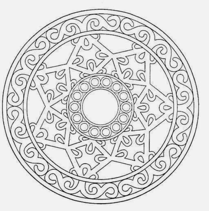 It is a graphic of Dramatic Mandalas Print Out