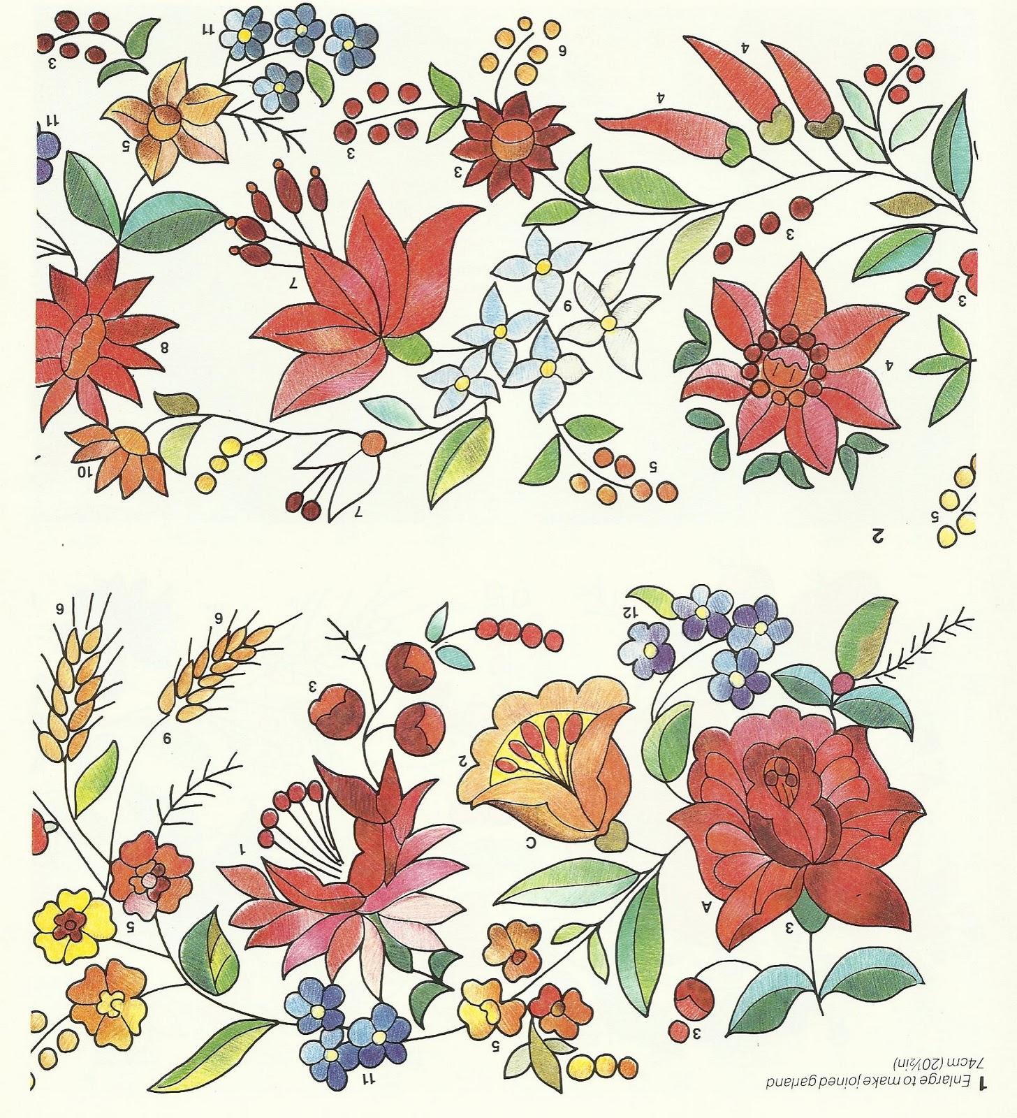 Вышивка цветочные мотивы 24