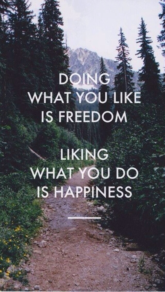 Doing what you like is freedom, liking what you do is happiness. #quote