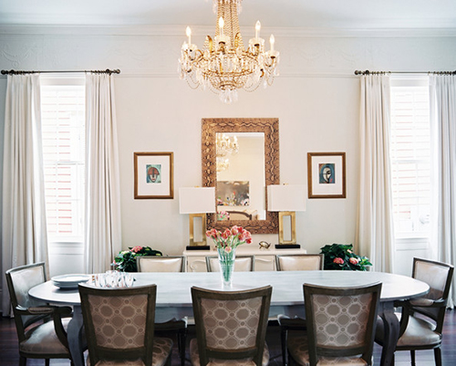 French Dining Room Style Furniture Chandelier Updates