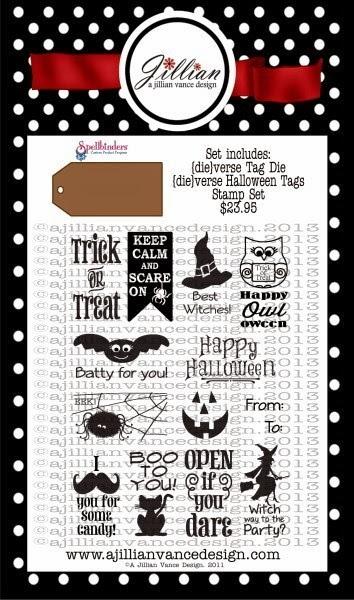 {die}verse Halloween Tags Stamp And Die Combo