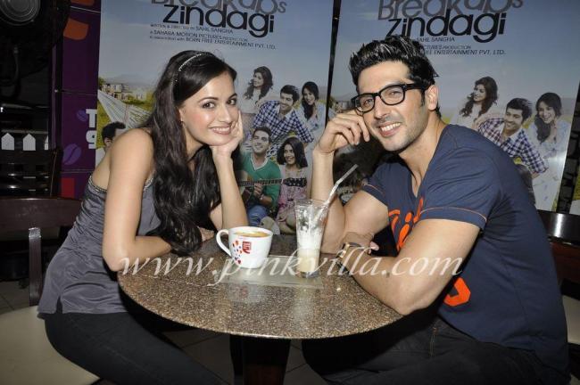 Dia Mirza & Zayed Khan Launch LBZ Coffee Cafe