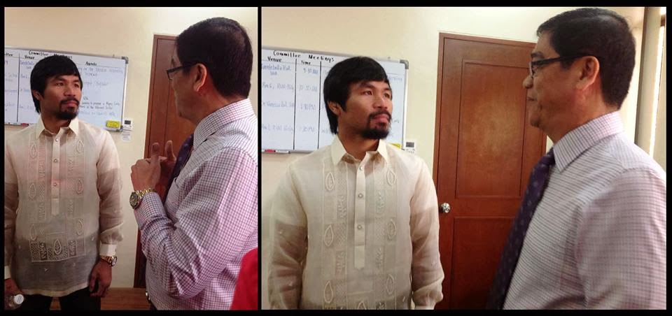 Catanduanes Rep. Cesar Sarmiento with Saranggani Rep. and boxing icon Manny Pacquiao