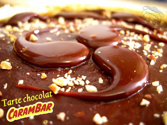 recette de tarte chocolat carambar