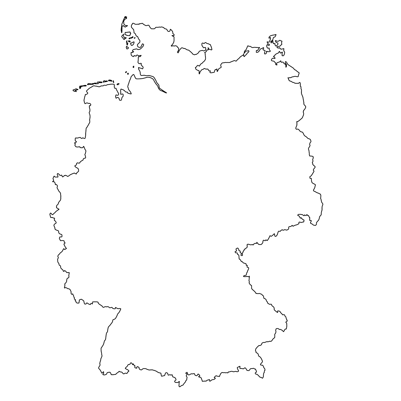 Deutschland | <b>Landkarten</b> kostenlos – Cliparts kostenlos ...