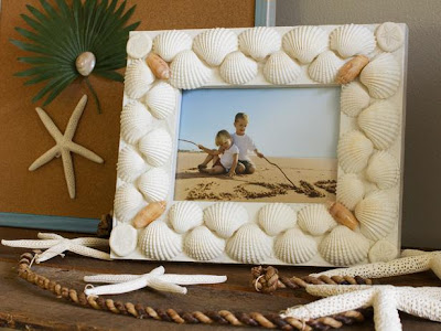 Seashell picture frame idea