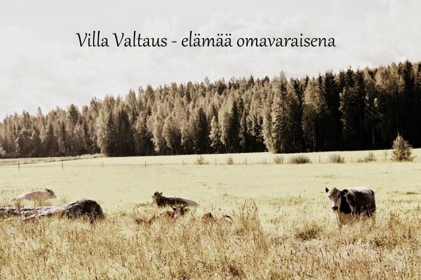 Villa Valtaus -elämää omavaraisena