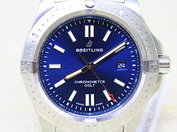 BREITLING COLT 44mm CHRONOMETER SUNBURST BLUE DIAL - AUTOMATIC