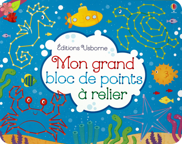 Mon grand bloc de points à relier - Usborne