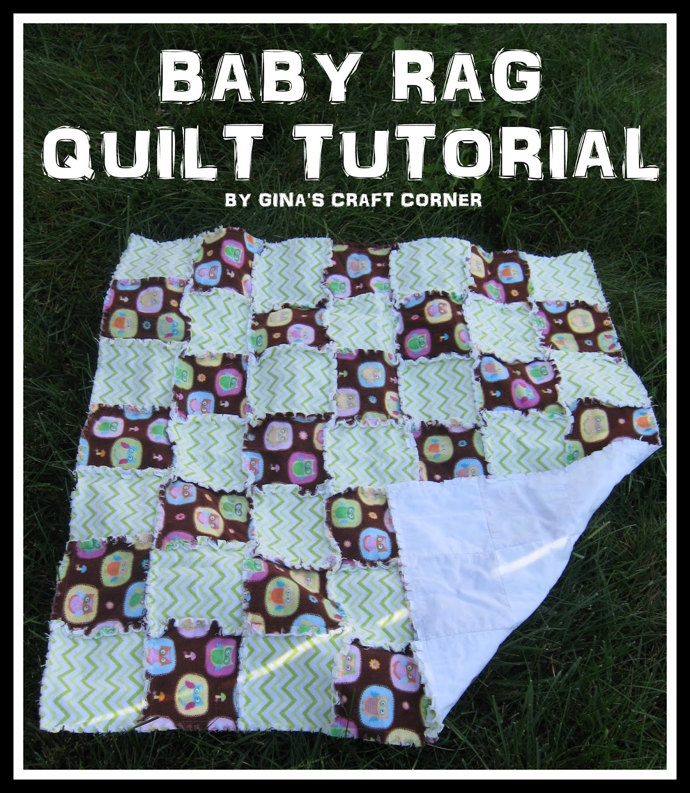 Gina s Craft Corner: Baby Rag Quilt Tutorial