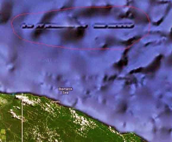 Misteri, Penemuan, Tembok, Lurus, Di, Bawah, Laut, Papua
