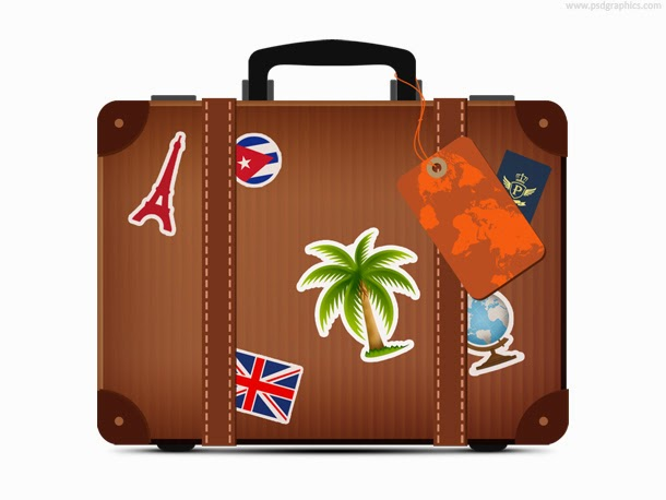 Travel Suitcase Icon PSD