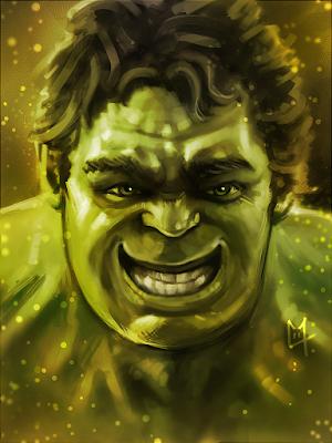 Portrait de Hulk content