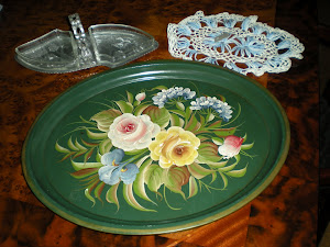 10 Cents Green Painted Tray Plus