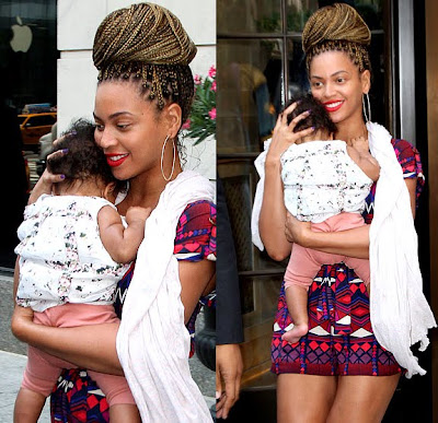 Beyonce With Braids and Blue Ivy Carter