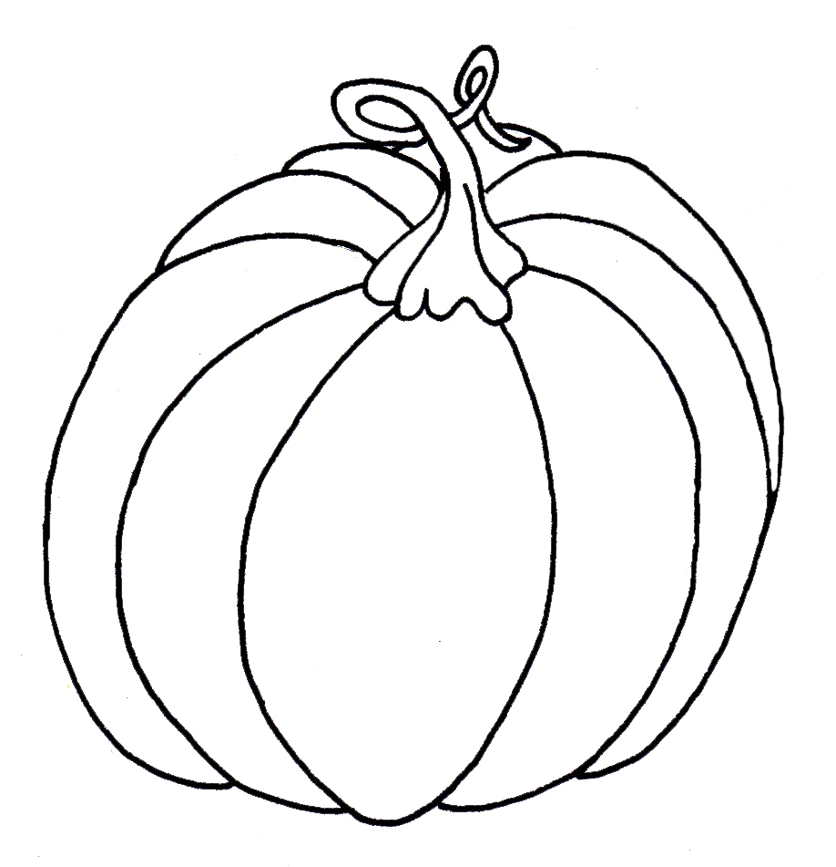 printable blank pumpkin coloring pages - photo#39